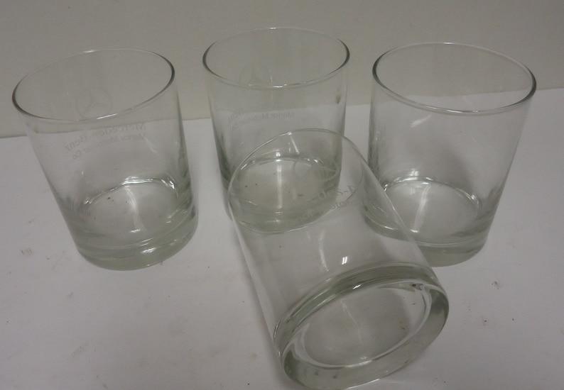 mercedes benz glasses vintage manor motor cars co 4 piece