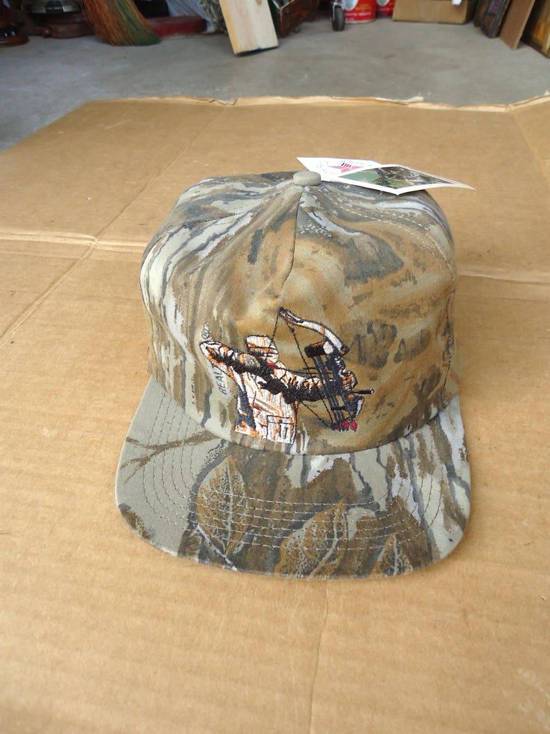 170962f7c70 Vintage bow hunting cap hat real tree camo baseball snapback