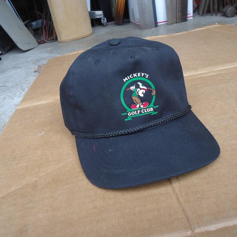 Mickey mouse golf hat vintage cap snapback.  569d30672bd
