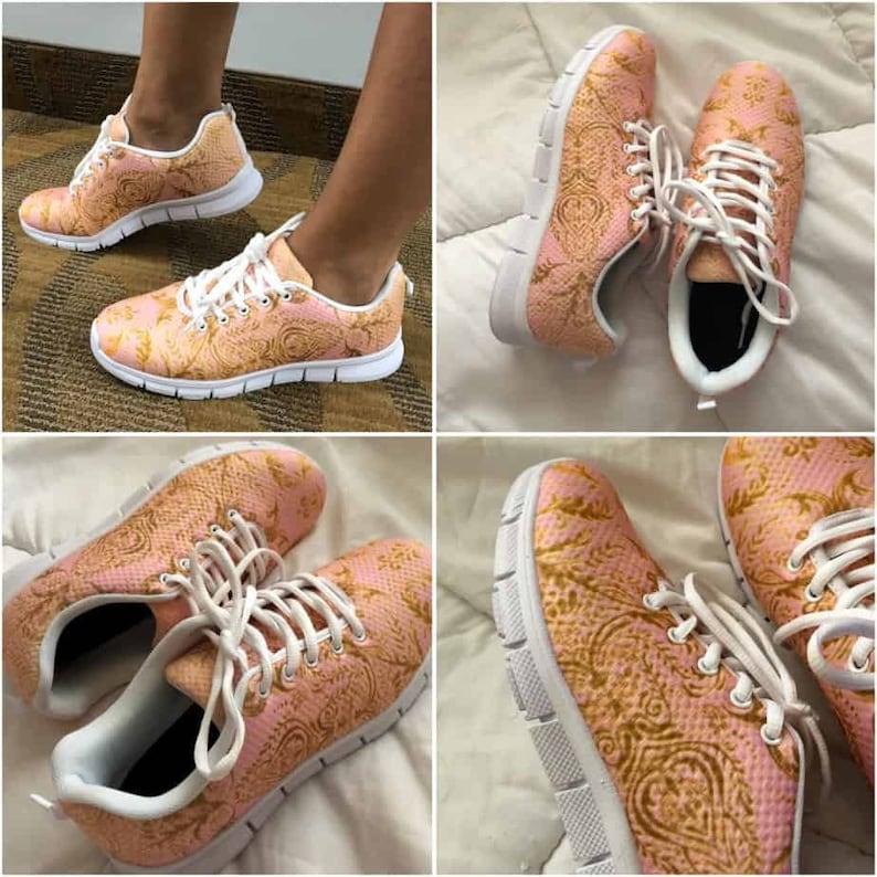 Castlefield Bold Floral Lilac Flower Design Sneakers Runners j1oVSiz6