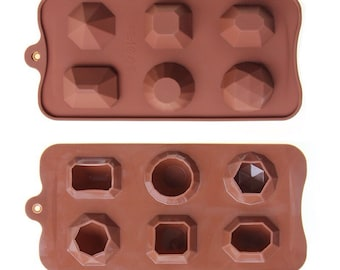 Chocolate and Candy Gems Silicone Mold
