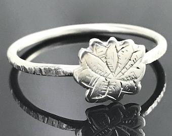Lotus ring - Sterling silver lotus - Yoga jewelry - Flower ring - Sterling silver yoga ring - Meditation jewelry
