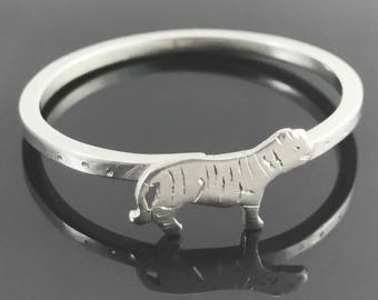 Tiger ring - Sterling silver tiger ring - Tiger jewelry - Animal ring - Sterling silver animal ring - Big cat jewelry