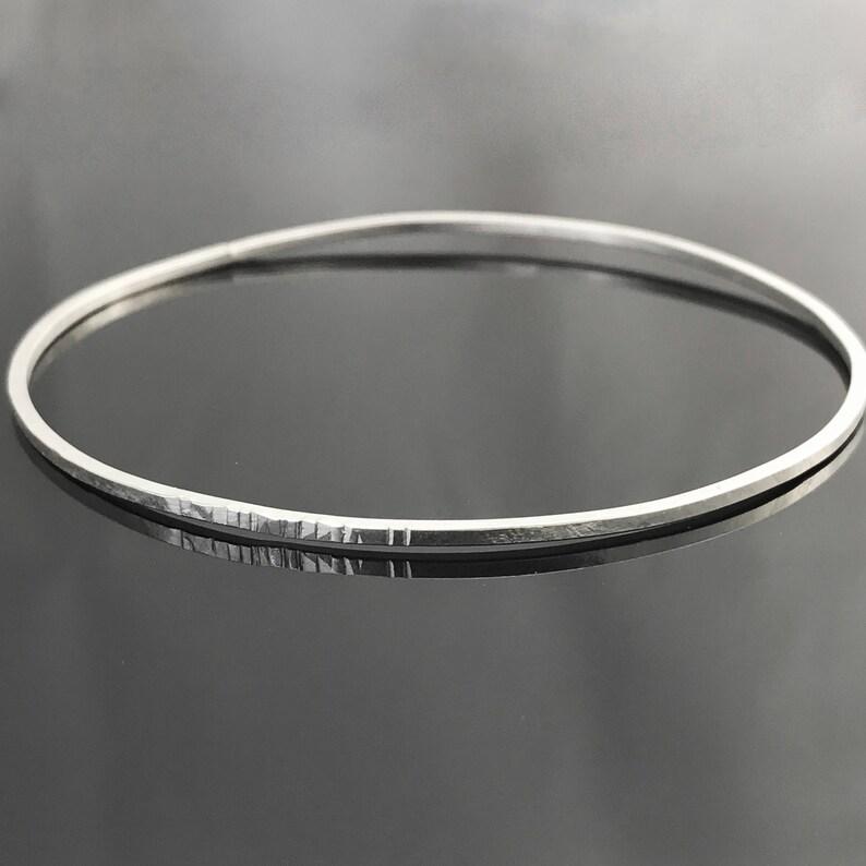 14ec8f101bc7 Hammered bangle bracelet Sterling silver bangle Simple