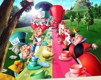 Alice in Wonderland Wall mural Wallpaper Wall dcor Wall
