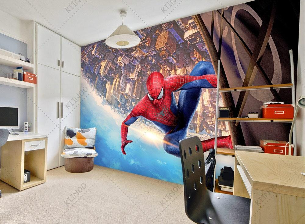 Spiderman mural 6 Superhero Wallpaper Spider-man Wall | Etsy