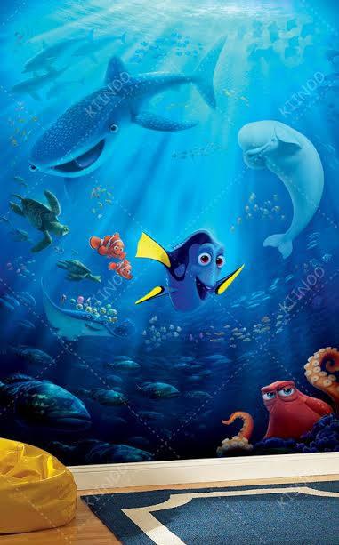 Finding Nemo Wall Mural Sea Bottom Wall mural Nemo | Etsy