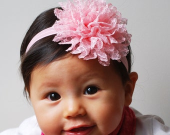 White Pink Hair Bands Bow Headbands Baby Headbands Kids Hair Etsy
