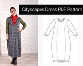 The Sewing Workshop PDF sewing pattern - Cityscapes Dress. Sizes s, m, l, xl. Sewing patterns for women. Download.