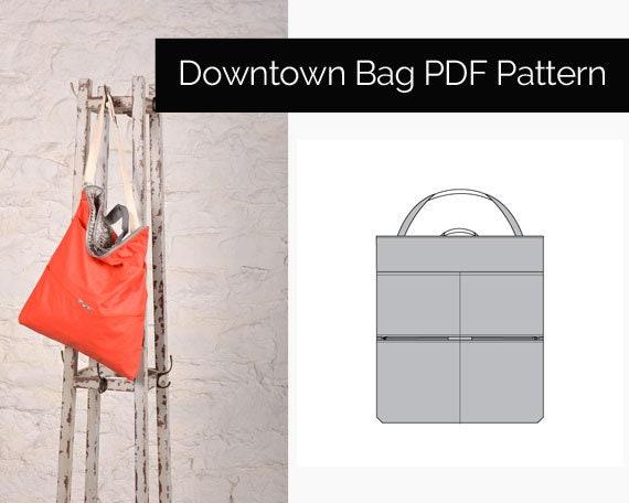 Downtown Tasche PDF-Schnittmuster Schulter oder Crossbody   Etsy
