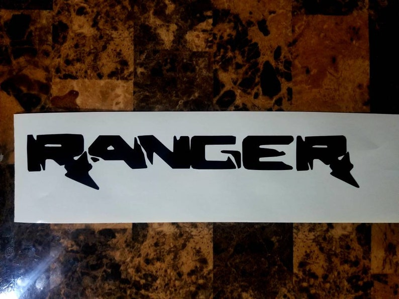 Raptor style ranger bed decal and windshield banner. image 0
