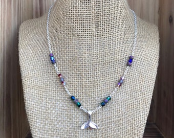 Beaded Whale Tail Necklace