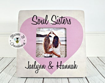 Custom Friend Picture Frame Best Gift Soul Sisters Childhood Birthday Long Time Friends