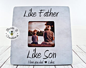 Picture Frame Gift For Dad Fathers Day Like Father Son Birthday
