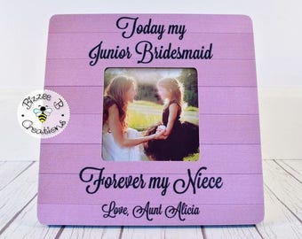 ON SALE Today My Junior Bridesmaid, Wedding Thank You, Gift for Niece, Aunt and Niece gift, Junior Bridesmaid Gift, Forever my Niece