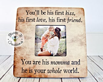 ON SALE Mother's Day Gift for Mom, You'll Be His First, Mother's Day Gift, Birthday Gift for Mom, Mother's Day, New Mom Gift, Mother Son Gif