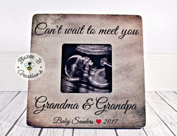 Custom Gift For Grandparents To Be Cant Wait To Meet Etsy