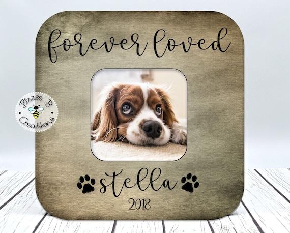 Loss Of Pet >> Dog Memory Picture Frame Custom Dog Name Frame Loss Of Pet Dog Memorial Forever Loved Dog In Memory Of Frame Loss Of Dog Gift