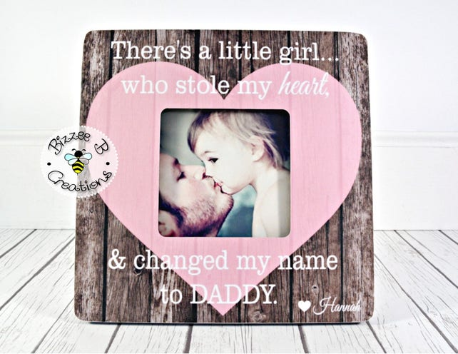 Personalized I Love Daddy Picture Frame Fathers Day Gift Gifts