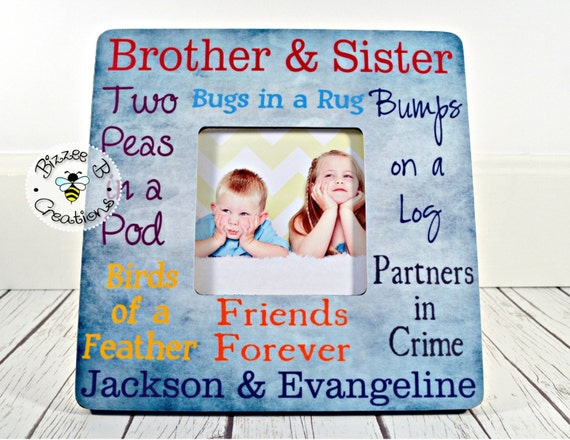 Siblings Picture Frame Brother Sister Frame Mothers Day Etsy