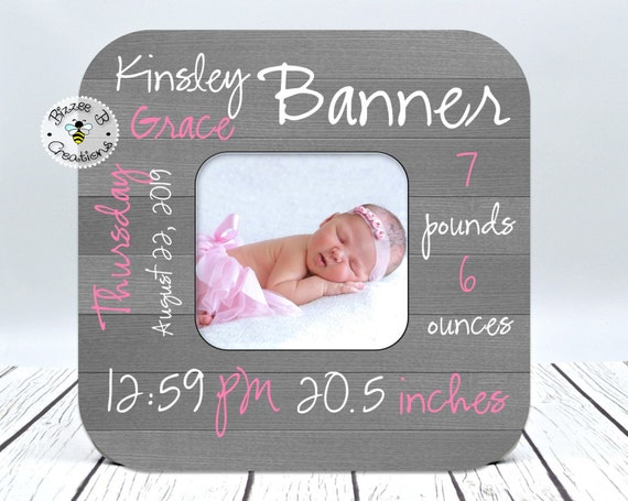 Gift for New Parents Newborn Baby Picture Frame Personalized Birth Announcement Picture Frame Nursery Picture Frame Newborn Gift