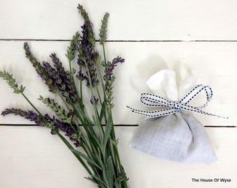100% Linen French Lavender Bag - Handmade French Lavender Sachet