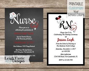 Nursing Graduation Invitation Pinning Ceremony Invitation