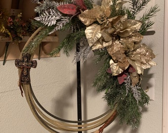 Wreath, Christmas & Holiday Cowboy Rope Wreath