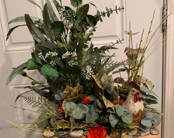 Table Floral w/Added Animals
