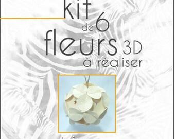 "DYE Christmas 3D origami ""customizable set of 6 balls"