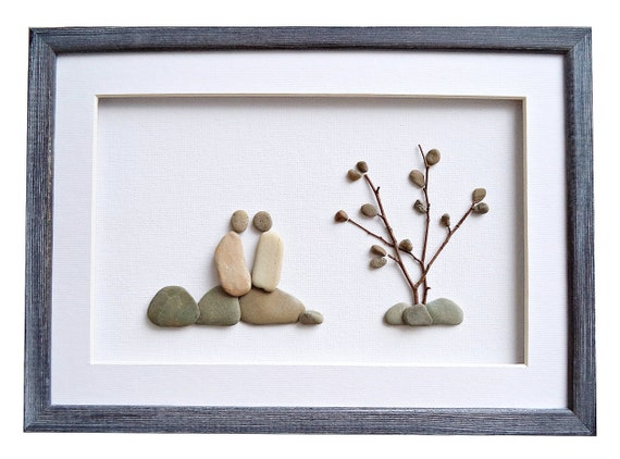 Pebble Art Romantic Love Gift For Couples Outdoors Lovers Etsy
