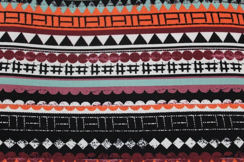 ITY knit-large Geometric multicolor Orange print