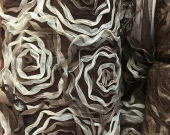 CHIC Rosette Mesh Fabric