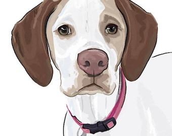 Custom Pet Portrait / Dog Drawing / Custom Pet Drawing / Digital Pet Portrait / Personalized Pet Art / Animal Lover Gift / Pet Drawing