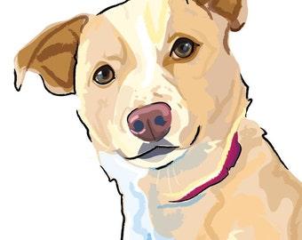 Custom Pet Portrait / Custom Pet Illustration / Custom Pet Drawing / Vectorized Pet Portrait / Personalized Pet Art / Gift for Animal Lover
