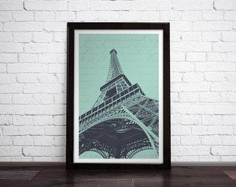 Eiffel Tower • Paris, Fance - Modern Art Print
