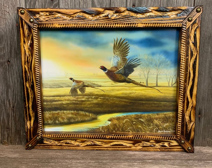 "Custom Order: Pheasant Creek 11""x14"" Print with Burnt Frame"