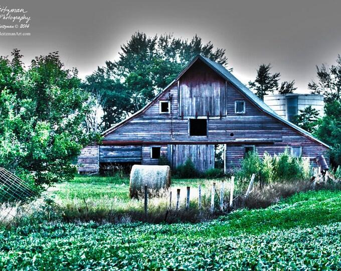 Barn Photo Barn Photography HDR Photography Frosty Barnwood Aspen Trees Birch Trees Farm Scene Winter Farm Photography by Nicole Heitzman