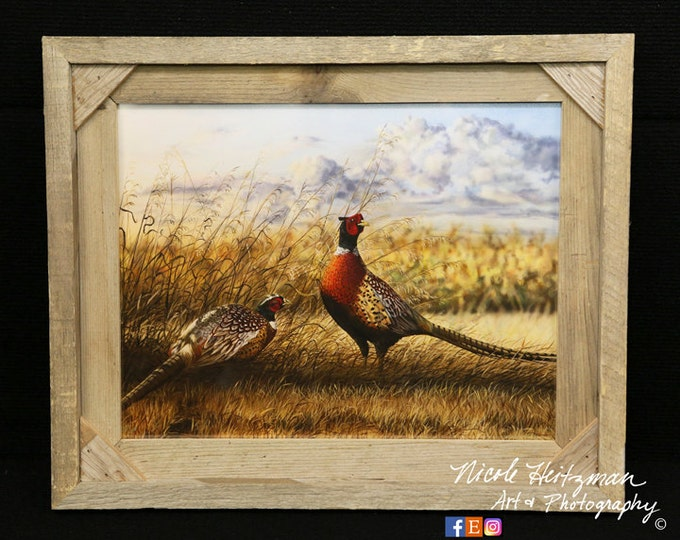 Pheasant Painting Christmas gift for Dad Ring-necked Pheasant Art Father's Day gift for men hunter gift pheasant print by Nicole Heitzman