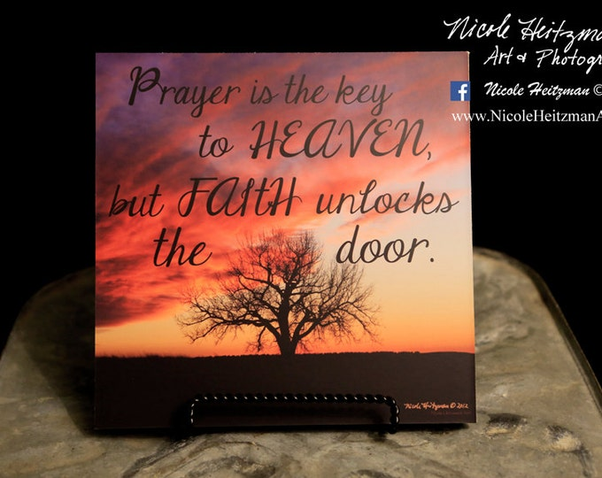 Tree Sunset Photo Sunset Photography Sunset print Scripture quote saying Gift for her mom Tree Art Tree silhouette Photo by Nicole Heitzman
