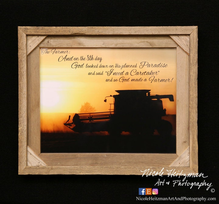 The Farmer Saying Christmas Gift For Dad International Combine Photo