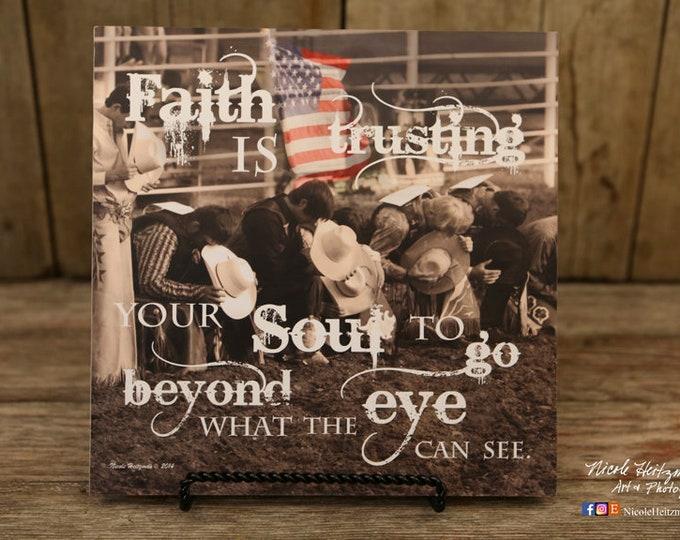 Rodeo Cowboys Praying Cowboy rodeo Photography Americana USA flag Patriotic Decor Faith quote saying Western Art Photography Nicole Heitzman