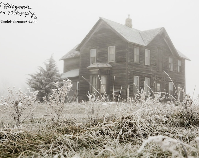 Old House Photo Black and White Photography Metal Print Rustic photography Structural Photo Gift for Men women Print by Nicole Heitzman
