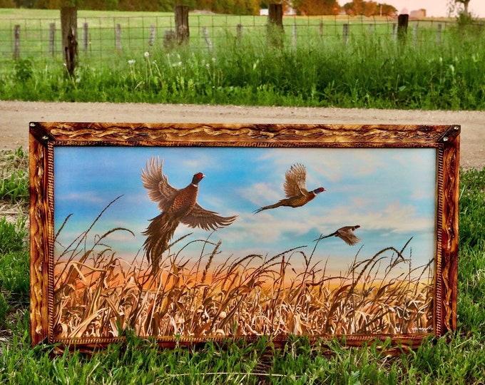 Father's Day Gift Pheasant Print Pheasant Art Pheasant Painting Pheasant Hunting Dakota Harvest Canvas Print by Nicole Heitzman