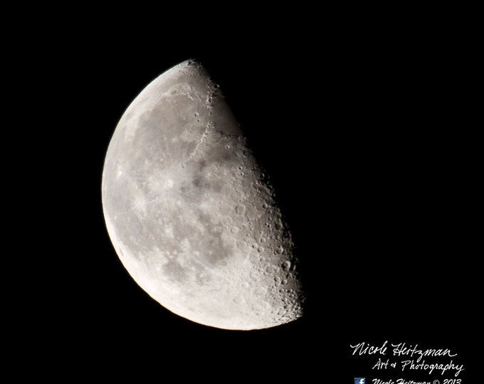 Father's Day Gift Moon Photo Moon Photography Man Cave Decor by Nicole Heitzman