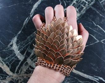 Steampunk Bronze Glove, Sekhmet Egyptian War Goddess, Burning Man Festival Larp Medieval Jewelry