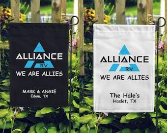 Alliance WE ARE ALLIES Custom Double Sided Soft Microfiber Garden Flag