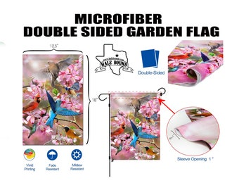 CUSTOM PRINTED Double-Sided Garden Flag - Any Color, Design, Image, or Business Logo - Soft Microfiber