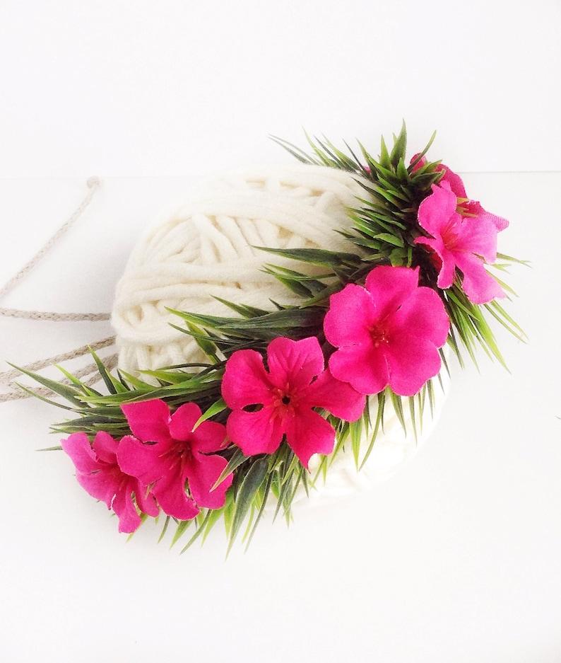Haku Lei Infant Moana Headband Birthday Crown Baby Moana Flower Crown Moana Crown Baby Flower Crown Island Princess Hawaiian Crown