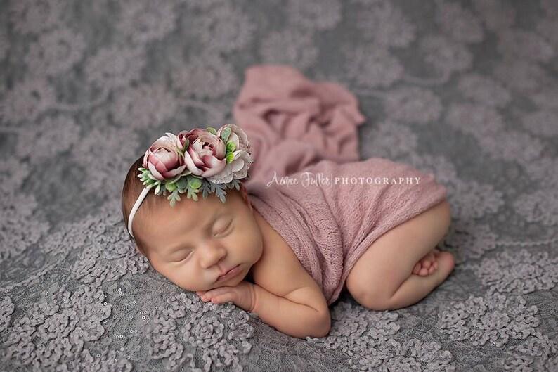 Baby Flower Crown Flower Headband Flower Girl Flower Crown Floral Crown Baby Flower Headband Nylon Flower Headband Toddler Headband
